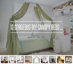 13. Staple Gun - 13 Gorgeous DIY Canopy Beds ... → DIY
