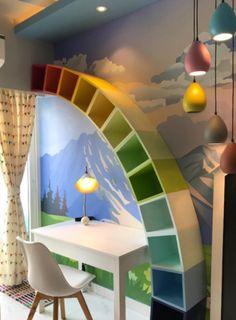 Small House Interior Design, Home Room Design, Kids Room Design, Living Room Designs, Kids Bedroom Designs, House Design, Study Table Designs, Kids Study Table Ideas, Small Study Table