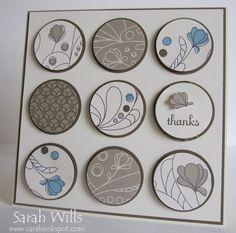 Sarah Wills - Elegant Soiree circle card