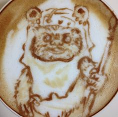 EEK! If only we could have this Ewok latte every morning.