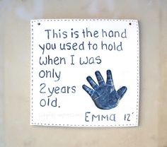 Cute little poem and handprint