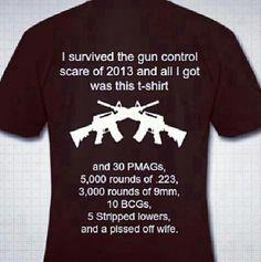I survived the gun scare