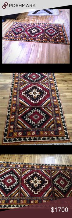 HANDMADE!! Bourbon wool/cotton rug from Morocco!! HANDMADE!! Bourbon wool/cotton rug from Marrakesch, Morocco!! Other