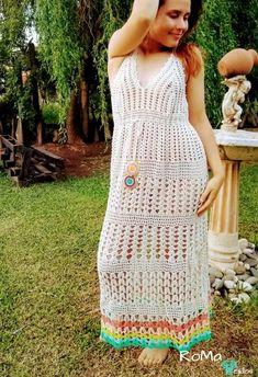 Free Crochet, Crochet Patterns, Knitting, Crochet Dresses, Clothes, Instagram, Fashion, Crochet Beach Dress, Crochet Strappy Tops