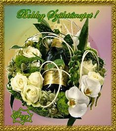 Birthday Name, Happy Birthday, Name Day, Table Decorations, Flowers, Plants, Gifs, Humor, Happy Brithday