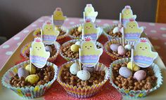 Easter Chick Cakes