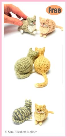 Tiny Parlor Cat Free Knitting Pattern Use this Panda Amigurumi Crochet Pattern to create your own adorable animal toy .Use this Panda Amigurumi Crochet Pattern to create your own adorable animal toy. Amigurumi toys make Free Knitting, Baby Knitting, Free Crochet, Knit Crochet, Knitting Toys, Knitting Ideas, Small Knitting Projects, Knitting Tutorials, Crochet Afghans