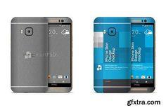 CM - HTC One M9 Mobile Skin Case Mockup 1286635
