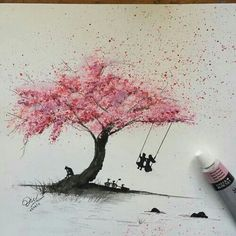 Tree of life sketch artworks ideas Tree Drawings Pencil, Art Drawings, Botanisches Tattoo, Blossom Tree Tattoo, Life Sketch, Tree Sketches, Buch Design, Tree Tattoo Designs, Tree Artwork