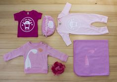 gagamu outfit ideas for sweet litte girly monster!!! Shirt, sweater, blanket & onesie... all in lovely pink! And for mummy a little bag for all the small things!!!