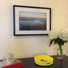 So happy to see our custom frame in the downtown Manhattan studio of nylaunchpod.com, a podcast about start-ups in New York City!  This Hamptons beach photo pairs perfectly with our Gallery Frame in Black.