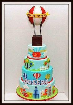 Awesome 63 Beste Afbeeldingen Van Hot Air Balloon Cake Taart Funny Birthday Cards Online Necthendildamsfinfo