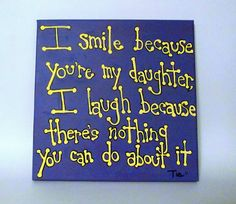 Daughter Quote - Daughter Gift - Mother Daughter Gift - 12x12 Canvas Quotes. $32.50, via Etsy.