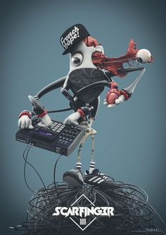 Scarfinger MPC by tealanb, via Behance