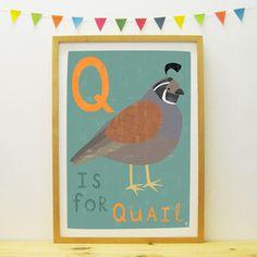 Quail poster/print | Paper Penknife