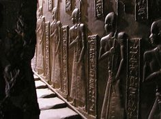 """The image above is a relief on the walls of Hathor's Temple, Dendera Egypt. The same temple that has the famous """"lightbulbs"""" depicted on the walls."""