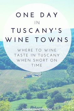 Short on time in Tuscany and love wine tasting? You can still sip some of Italy's best wines with this one day itinerary that features the gorgeous walled towns of Montalcino and Montepulciano in Tuscany -- and where to taste the wines that those two towns are famous for.