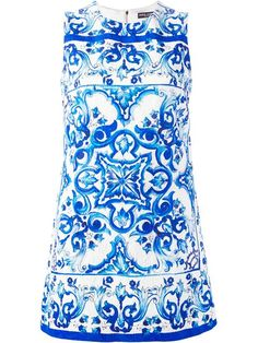 Shop Dolce & Gabbana majolica print brocade dress in Divo from the world's best independent boutiques at farfetch.com. Shop 300 boutiques at one address.