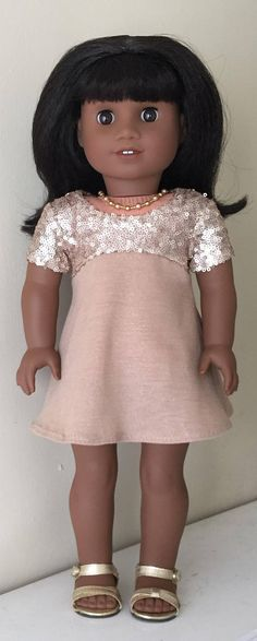 Fits American Girl doll: sparkly special occasion dress