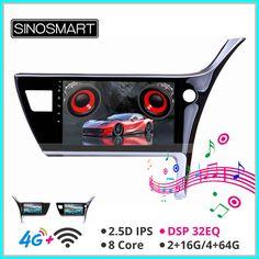 Hot Sinosmart Android 8 1 Car For Toyota 2017 Corolla Gps Navigation Radio 2din 2 5d Ips Qled Screen 2020 In 2020 Gps Navigation Car Audio Gps