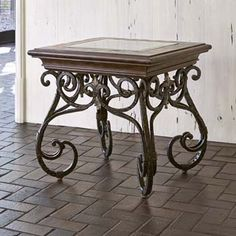 Montego End Table Western Cocktail and End Tables