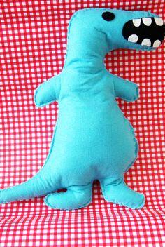 Bright Blue T Rex Dinosaur Cushion Plush Soft Toy Kids £7.00