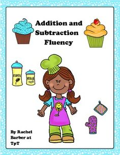This is a cute, baking theme game for practicing addition and subtraction fluency within five. (Common Core Kindergarten Standard) Students may work on this with partners or independently during center time.