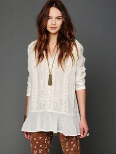 Free People FP New Romantics Trailing Stars Flounce Tunic at Free People Clothing Boutique