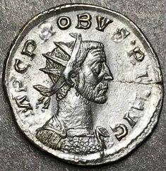 Superb Probus Ae Silvered Antoninianus Ancient Roman Imperial Coin.