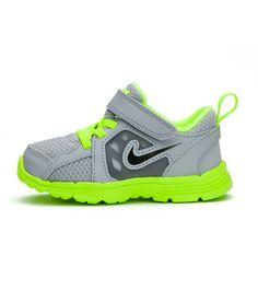 e6537e6988e84 Nike - Nike Kids Fusion Run (TDV) Grey FluroGreen