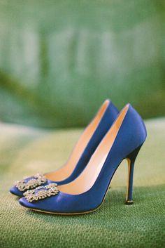 """Something Blue"" Wedding Shoes. Elizabeth Anne Designs Something Blue // Aisle Perfect"