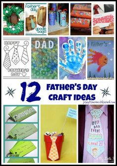 12 (+ Father's Day Craft Ideas from Play 2 Learn with Sarah Easy Crafts For Kids, Gifts For Kids, Dad Gifts, Craft Activities, Preschool Crafts, Preschool Fathers Day Gifts, Diy Father's Day Gifts Easy, Daddy Day, Fathers Love