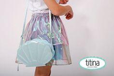 iridescent Layered skirt / mermaid skirt