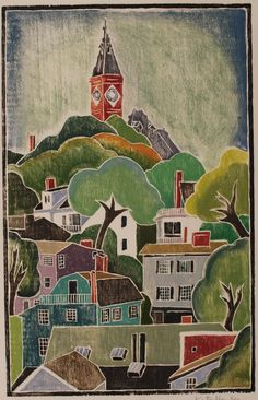 Marblehead - Kate Hanlon. Quite possibly my favourite white line woodcut