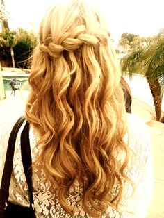 Stunning Waterfall Braid Hair