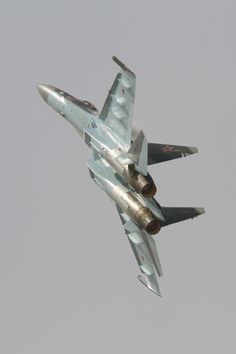 Sukhoi SU-35S displaying at Salon Le Bourget/Paris Air Show June 2013.