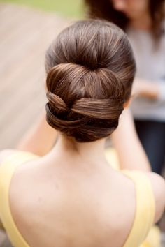 beautiful straight wedding hair updo #cabelo #noiva
