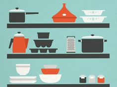 Kitchen Illustration    Illustration by Isabel