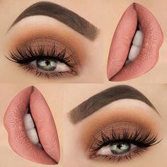 Brown & Nude Eye Shadow and Lip Color Makeup Idea for Spring🌼🌼🌸 Makeup Idea . Brown & Nude Eye Shadow and Lip Color Makeup Idea for Spring🌼🌼🌸 Makeup Idea . Makeup For Green Eyes, Blue Makeup, Eyeshadow Makeup, Hair Makeup, Prom Makeup, Eyebrow Makeup, Eyeshadow Palette, 2017 Makeup, Simple Eyeshadow