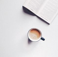 Cup of tea + your favourite book = the perfect morning But First Coffee, I Love Coffee, Coffee Break, My Coffee, Morning Coffee, Coffee Pics, Coffee Pictures, Coffee Creamer, Starbucks Coffee