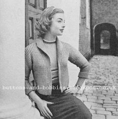 The Vintage Pattern Files: 1950's Knitting - Jacket For Early Spring