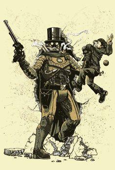 #georgeslemercenaire #behance #illustration #steampunk