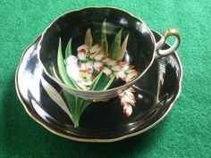 Hand Painted Echo Tes Cup and Saucer by Rocky1975 on Etsy, $25.00