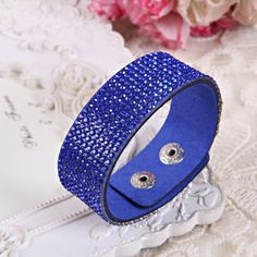 Leather Bracelet Crystal Wrap Bracelets For Women Multilayer Long Bracelets & Bangles Ladies Bracelet Fashion Jewelry