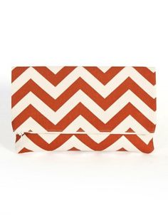 Chevron clutch in rust. Kindly made in America (Utah).  BishopCollective.com