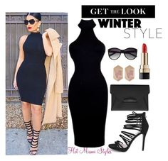 """MOCK NECK DRESS"" by dopegeezy ❤ liked on Polyvore featuring Boohoo, Givenchy, Dolce&Gabbana, Nocturne and Vince Camuto"