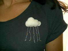 Gabulle in Wonderland: Broche nuage en feutrine ( felt cloud brooch) http://gabulleinwonderland.blogspot.fr/