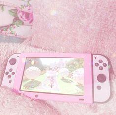 "immy-blossom: ""All pink 💓🌸 "" Pink Games, Nintendo Switch Accessories, Otaku Room, Jokes Pics, Gaming Room Setup, Video Game Memes, Kawaii Room, Game Room Design, Gamer Room"