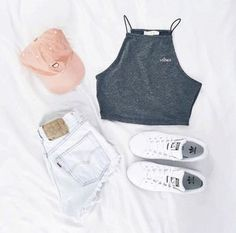 Trendy Makeup Looks For Teens Schools Summer Outfits Teenage Outfits, Cute Casual Outfits, Teen Fashion Outfits, Cute Summer Outfits, Cute Fashion, Girl Outfits, Outfit Summer, Ootd Summer Teen, School Outfits