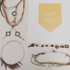 I got this. Gold. Handcrafted Jewelry made from recycled and a collection of found objects.   Junk turned into love
